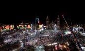Celebración Bicentenario (nocturno); Zócalo, México, D.F.