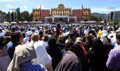 60215081. San Cristóbal de Las Casas, Chis., 15 Feb (Notimex-Javier Lira).- El Papa Francisco oficia misa ante miles de indígenas de etnias de todo el país e incluso de naciones centroamericanas, que se reunieron en el Centro Deportivo Municipal. NOTIMEX/FOTO/JAVIER LIRA/JLO/REL/PAPA15/HOY/SCTBAL/