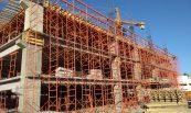 Apuntalamiento en edificio Alatorre en Hermosillo