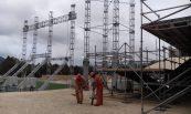 Instalación de Sistema de Puesta a tierra en visita del Papa en Chiapas