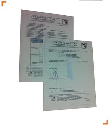 Certificaciones Sistema de Puesta a Tierra